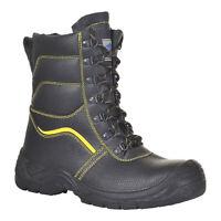 PortWest Men Steelite Fur Lined Protector Boot S3 CI Black Various Size FW05