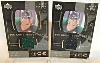 (2) LOT 2000-01 Upper Deck Ice Game USED Jerseys Keith Tkachuk COYOTES  #ITK