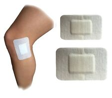 Adhesive Sterile Dressings - First Aid Plasters Cuts & Wounds 8cm x 6 - 10cm x 8