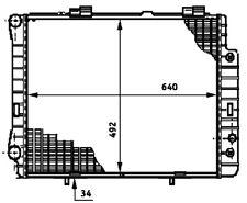 Radiator-New Perfect fit Behr Hella Service 376720381 fits 86-91 Mercedes 300E
