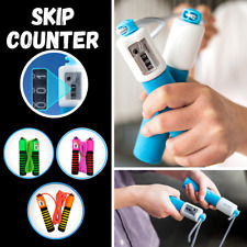 AUTO SKIP COUNTER Skipping Rope Jump Boxing Jumping With Fitness Kids Adult UK