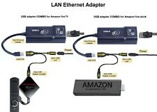 LAN Ethernet connector & USB adapter for Amazon Fire Stick (2nd Gen) -  NEW