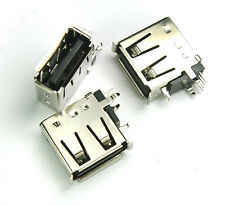 8pcs Female USB Receptacle Type  A  Connector PCB Vertical Mount Socket  SSCI