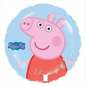 Peppa Pig Party Supplies - Peppa Pig Round Foil Balloon 45cm Helium Quality