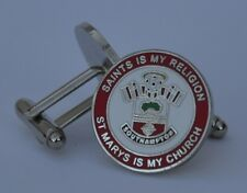 Southampton F.C. 'SAINTS IS MY RELIGION-ST MARYS IS MY CHURCH'  Enamel Cufflinks