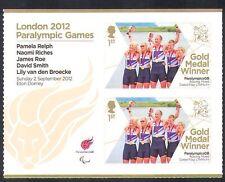 GB 2012 Juegos Paralímpicos/Olimpiadas/Deportes/ganadores de medalla de oro/mixto de remo 2 V + n36318