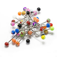 Industrial Barbell Piercing 20 Pack Surgical Steel 14G Acrylic Style Bead Ends
