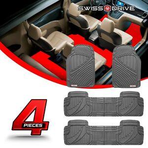 Swiss Drive Premium Heavy-Duty Car Floor Mats PVC 7 SEATER GRAY 4 Pieces