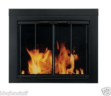 Pleasant Hearth Glass Fireplace Door Ascot Black Small AT-1000 Mesh Screens New
