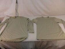 (2) Military GEN III Level 1 Light Tan Silk Thermal Tops Holes / Staining 33156
