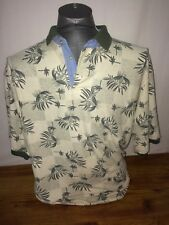 Bugle Boy Company Polo Rugby Style Shirt XL Leaves