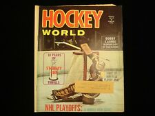 April 1972 Hockey World Magazine - Gerry Cheevers Cover
