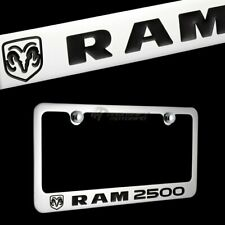 DODGE RAM 2500 Chrome Plated Brass License Plate Frame Officially Licensed