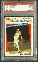 1987 K-Mart #17 Jim Palmer HOF Baltimore Orioles KMart PSA 9 Mint Only 12 Higher