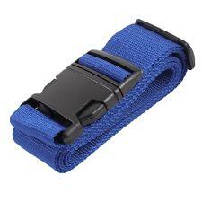 Plastic Release Buckle justable Luggage Strap Belt Black Blue