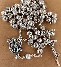 "Fatima/ Holy Spirit Roses ROSARY assambled in Poland of Italian parts 19""long"