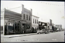 LA MOURE ND~ 1940's Downtown ~ Farmers Bank~ Dentist ~  Hardware Store~ RPPC