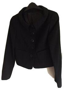 Hobbs Black Wool Jacket Size 8