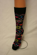 INCA DESIGN ON BLACK CALF LENGTH LOVE SOCKS 5 TO 10 UNISEX FOR HAPPY FEET!