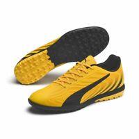 Puma ONE 20.4 TT Mens Football Soccer Boots Cleats Yellow Black Orange