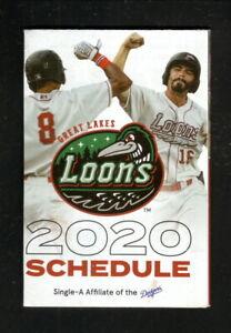 Great Lakes Loons--2020 Schedule--Farm Bureau Insurance--Dodgers Affiliate