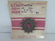 C.T. ALLOY COUNTERSHAFT SPROCKET 13 TOOTH FOR HONDA CA-CB-CL-CT-S-SL-TL-XL {B56}