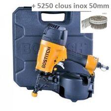 LOT BARDAGE BOSTITCH N66C-2-E CLOUEUR + 5250 CLOUS INOX 2.3x50mm liaison PVC