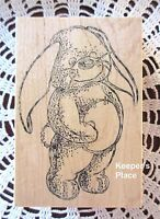 Sir Stamp-A-Lot Large Bunny Rabbit Mounted Rubber Stamp Brand New 101