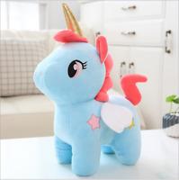 blue Unicorn Plush Toy Doll Cute Animal Pet Stuffed Soft Pillow Kids Girl Gift