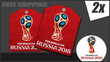 Two Removable Fans Red Signs Fifa World Cup Russia 2018