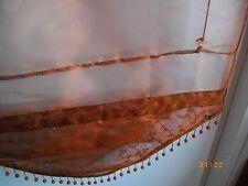 ensemble de 2 magnifiques stores bateaux neufs emballés broderies et perles
