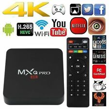 2018 MXQ Quad Core Android 7.1 TV Box 4K Ultra HD 17 Pro Media Player WI-FI UK