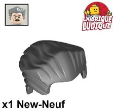 Lego - 1x Minifig cheveux coiffure hair court lisse gris f/d. b. gray 64798 NEUF
