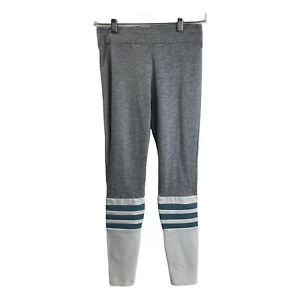Bombshell Sportswear Sock Leggings S Small Grey Steel Blue Striped Gym