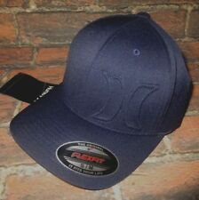 MENS HURLEY NAVY BLUE HAT FLEX FIT FITTED CAP SIZE S/M