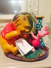 Disney Winnie The Pooh in Hunny Honey Jar Snowglobe Water GLOBE RETIRED Complete