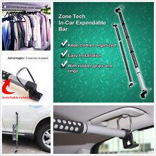 Expandable Car Vehicle Clothes Hanger Clothing Rod Bar Garment Rack Holder Black