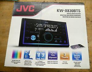 JVC KW-X830BTS 2 DIN Bluetooth USB SiriusXM Pandora Spotify i heart radio