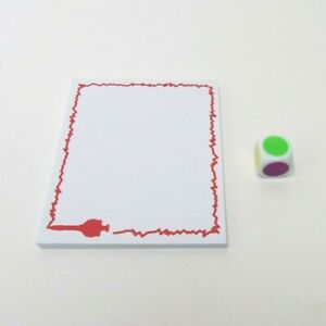 2015 Pass the Pen Game Replacement Parts Pieces- Dice and Drawing Pad