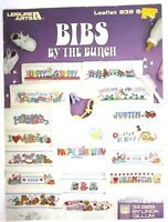 Vintage 1990 Leisure Arts Cross Stitch Book Baby Bibs By The Bunch Linda Gillum