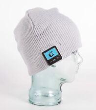 Freestyle Smart Beanie - Bluetooth Hat HD Speakers & Mic - Grey Fine Rib Design