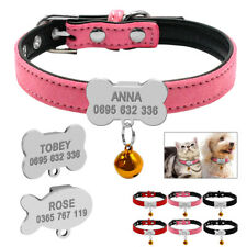 Soft Suede Leather Personalised Dog Collar for Chihuahua Yorkie Pug Small Medium