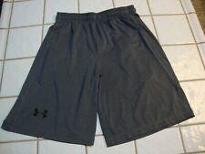 Under Armour Shorts Loose Athletic Basketball Running Dark Gray Mens Size Medium