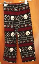 PENNSYLVANIA DUTCH goth skulls size 8-10 girls med pants Hex folk art leggings