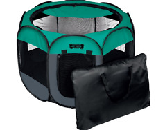 New Ruff 'n Ruffus Portable Foldable Pet Playpen + Carrying Case & Collapsible