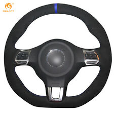 Leather Steering Wheel Cover for VW Golf 6 GTI MK6 Polo Scirocco R #DZ91