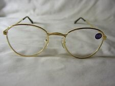 BRAND NEW Pair GOLD Metal Frame Reading Glasses +1.00 READERS Free Shipping