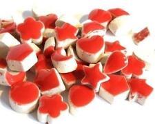Mini Céramique mosaïque forme TUILES - Rouge