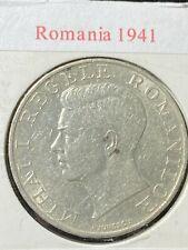 Romania 1941 SILVER 250 Lei