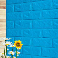 PE Foam 3D DIY Wall Stickers Wall Decor Embossed Brick Stone Office Room Decor